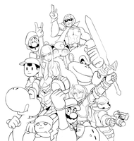 Brawl WIP Update: Old Timers by Bonus-kun