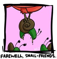 farewell snail friends by boobookittyfuck