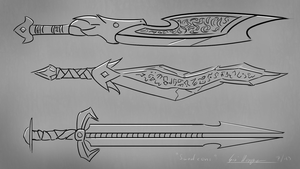 Sword sketches by DigitalCrest