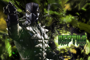 Reptile MKX Poster by ImmortalKombat
