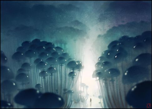 Mushrooms forest by GaudiBuendia