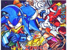 zonic the zone cop and sonic the hedgehog CL by trunks24