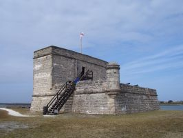 coquina fort, 16th century by paintresseye