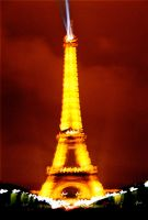 Eiffel Tower at Night I by Sparkyredboy