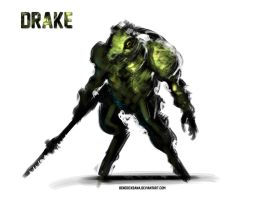 Drake Reptile Warrior design by benedickbana