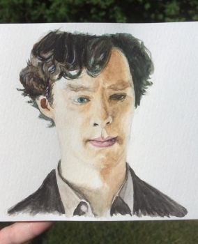 Sherlock in watercolor by Annocent