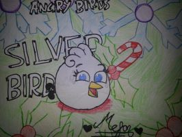 Angry Birds: Winter the Silver Bird by MeganLovesAngryBirds