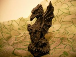 Dragon with sword by Seraerith-stock