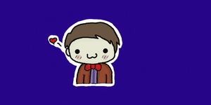 11th Doctor and his bow tie by RhiannaIsMyName