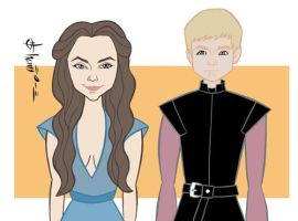 Game of Thrones - Margaery Tyrell and Joffrey by howardshum