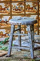 abandoned stool by wroquephotography