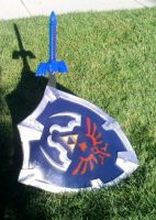 Epic Master sword and shield by Iluvtoonlink
