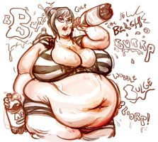 Meiko's Burpy Root Beer Belly by TheAmericanDream