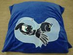 Luna Pillow Case, she closes her Eyes in the Dark by imageconstructor
