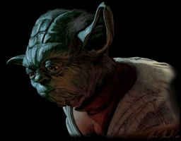 Yoda color drawing by Mark5150