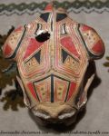 Painted sheep skull, back view by HeerSander