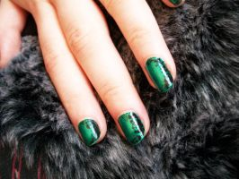 Green nails by Jennybicky