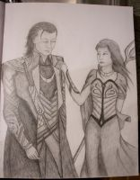 Loki with 'Woman' by MoniaArt101