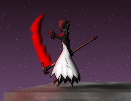 Lucien On a red moonless night by The-Clockwork-Crow