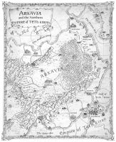 Map of Arkavia - Knight of Aslath by FrancescaBaerald