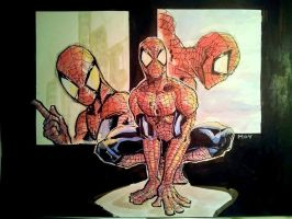 Spiderman Study/paneled by dreamflux1