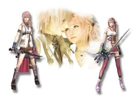 Lightning and Serah by SerenaKaori87