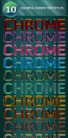 10 Colorful Chrome Text Styles by Romenig