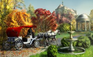 Autumn is in Kinkade's style by Mariwa-Fallenangel