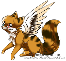 Winged-Canine Custom by Okami-Heart