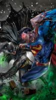Batman vs Superman by uncannyknack