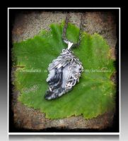 'Never ending dream'  silver pendant (SOLD) by seralune