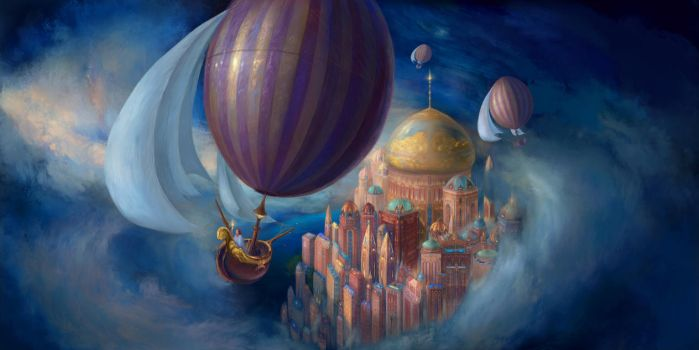 A Virtual Reality Dream: Ballooning in Liesel City by ValentiniaK