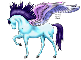 Pegasus Colored by DragonsLover1