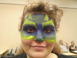 Krissy Dragon face painting by Midori-Valentine