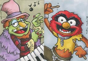 misc. muppet sketch cards by katiecandraw