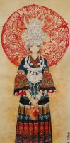 Miao nationality girl by Engifer