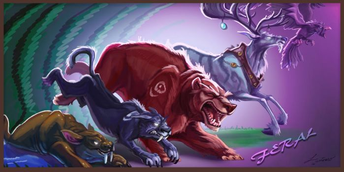 Tribute to the Feral Druid by Lucas-Zebroski