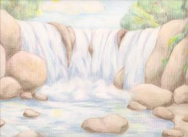 Waterfall by ginger-paw