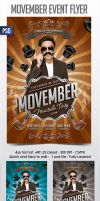 Movember Flyer Template by Grandelelo