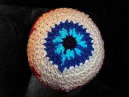 Eyeball Hat top view by StaceyQuay