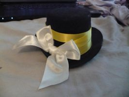 Mini Tophat with bow by Rainbowkitty-Designs