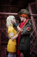 HELLSING Ultimate-Victoria Seras,Pip Bernadotte by Harusame-chan