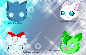 Digimon Adoptables 02 (Closed) by HeroHeart001