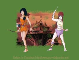 Warrior Maidens 1024 by purrsia