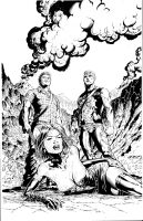 Eternal Descent 5 cover inks by TonyKordos