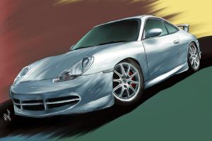 Porsche Painting by aibrean