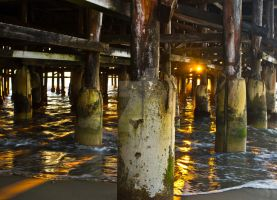 Under the Pier 2 by TheBirdsFeathers