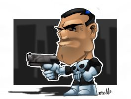 Punisher Chibi by bigMdesign