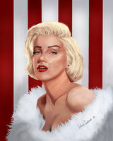 Marilyn Monroe by EvelinaLindqvist