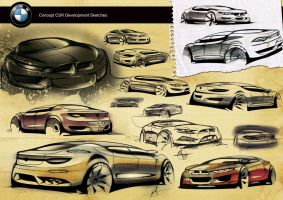 BMW concept CSR sketches by Samirs